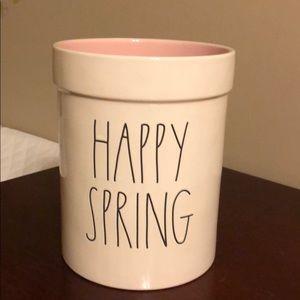 Rae Dunn Happy Spring Crock